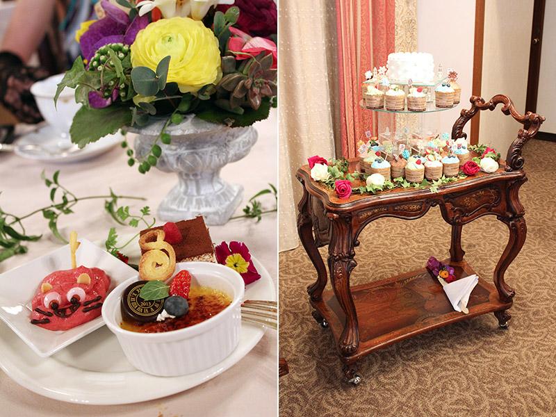ケーキテーブル装花 カラフル