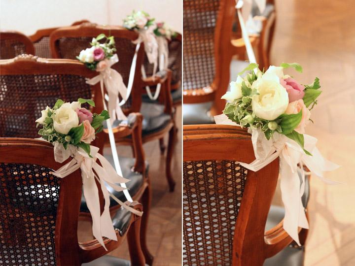 チェアフラワー,バージンロード,装花,花束