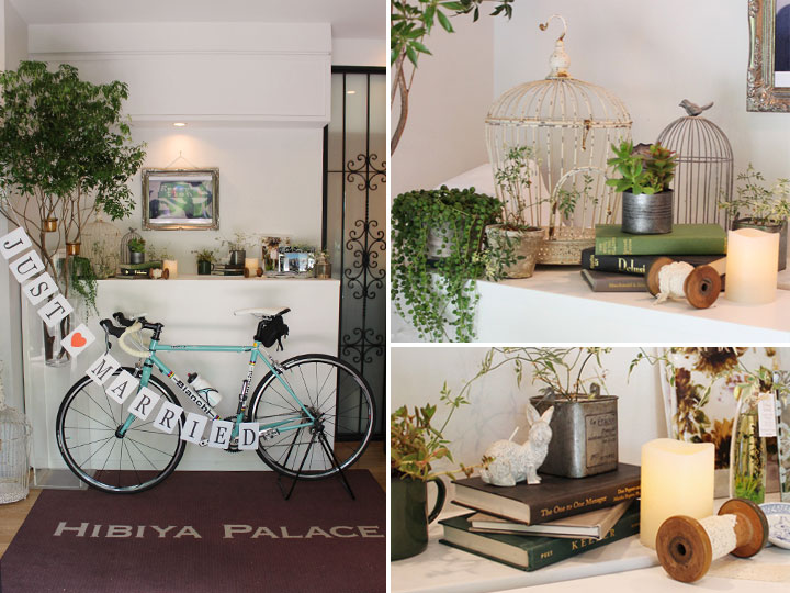 エントランス,ウェルカムスペース,装花,ガーランド,自転車