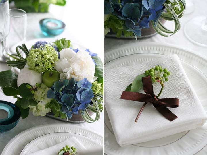ゲストテーブル,ナプキン,フラワー