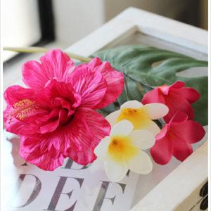 ハイビスカス,プルメリア,造花,髪飾り,