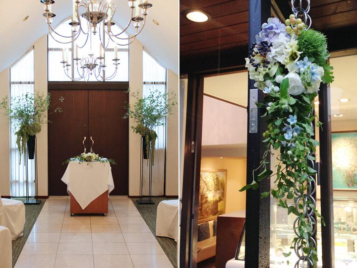 チャペル,挙式,装花,ウェルカムフラワー