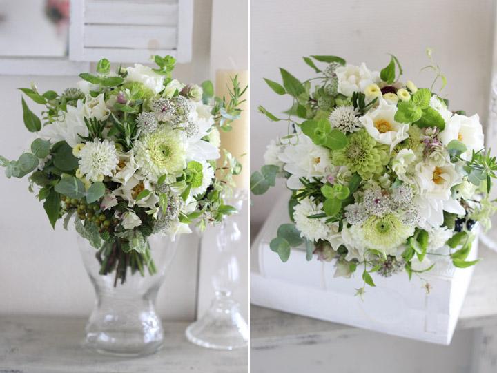 クラッチブーケ,ナチュラル,野の花,白,グリーン