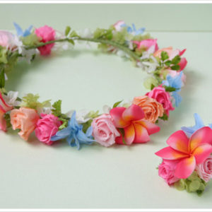 ハワイ,カラフル,花冠,プルメリア