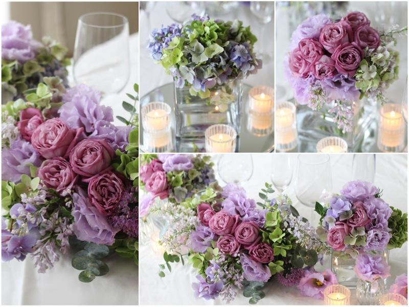 会場装花, ライラック,パープル,紫,あじさい