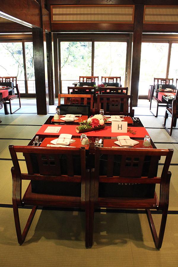 うかい鳥山,和,会場装花,婚礼,ゲストテーブルアレンジ