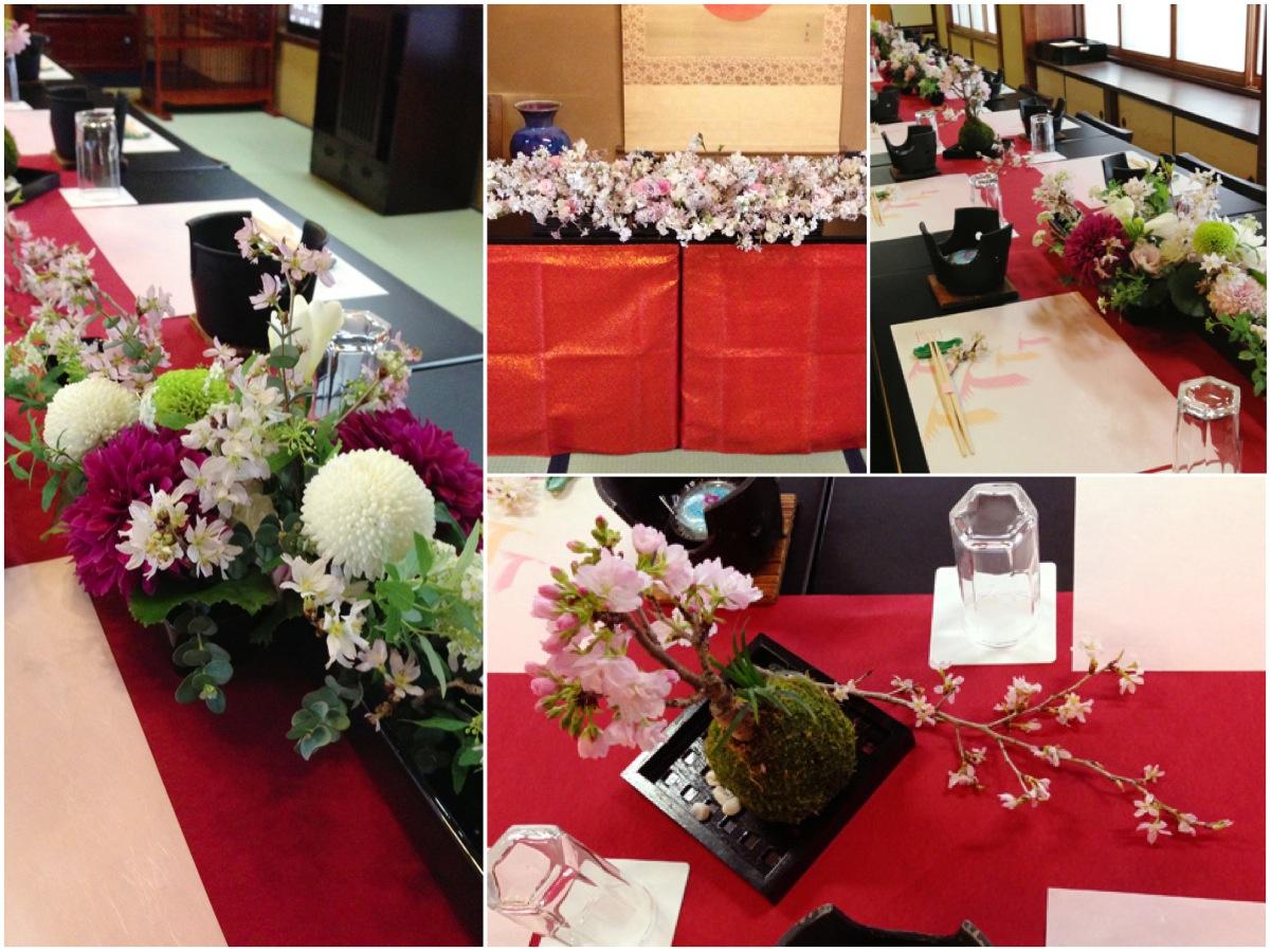 会場装花イメージ:和婚,和装,桜,ピンク,マム,菊